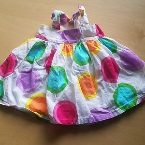 Colorful Gap dress with bows on straps